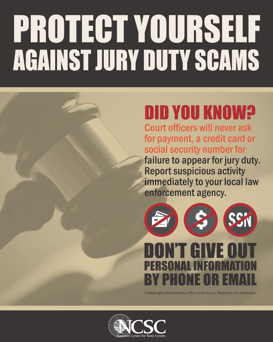 Protect yourself against jury scams